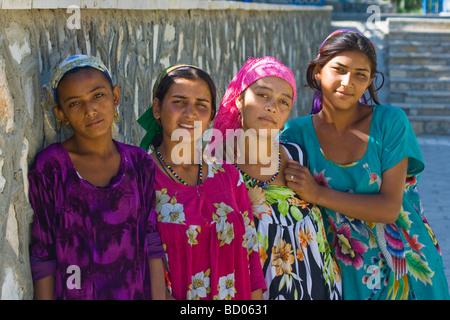 Young Uzbek Women in Bukhara Uzbekistan - Stock Photo