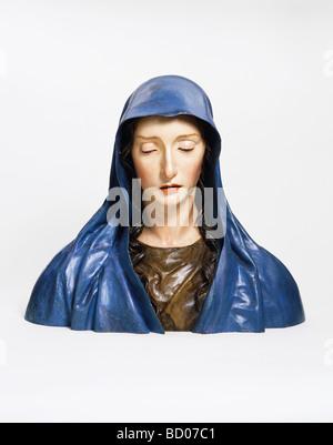 The Virgin of Sorrows, by José de Mora. Granada, Spain, late 17th century - Stock Photo