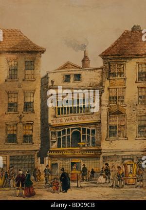 Mrs Salmon's Waxworks in Fleet St, by Morand. London, England, 1812 - Stock Photo