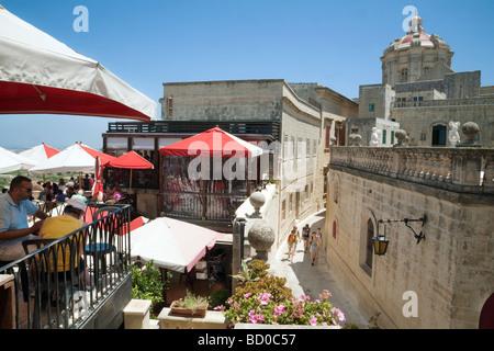 Fontanellas restaurant in Mdina, Malta - Stock Photo