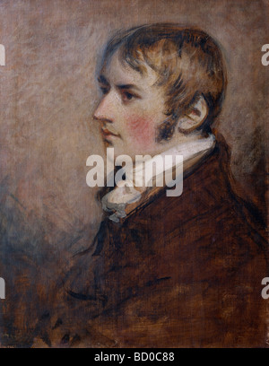 Portrait of John Constable, by Gardner. England, 19th century - Stock Photo