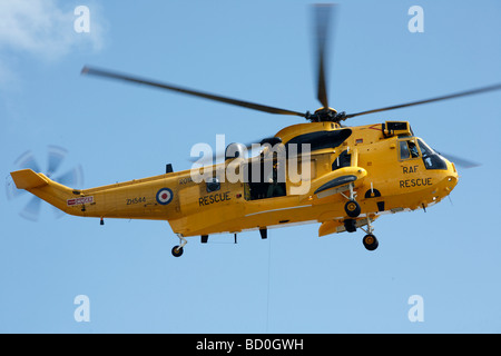 RAF Rescue Helicopter Swansea Airshow Wales UK - Stock Photo
