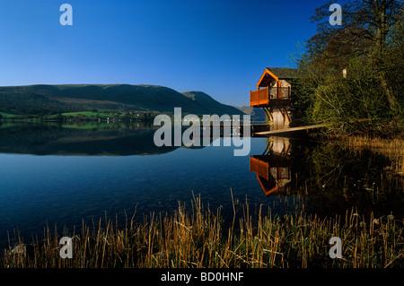 The Boathouse on Ullswater, Pooley Bridge, Lake District National Park, Cumbria, England, UK - Stock Photo