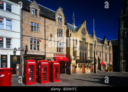 A view of Durham Town Hall and Marketplace, Durham City - Stock Photo