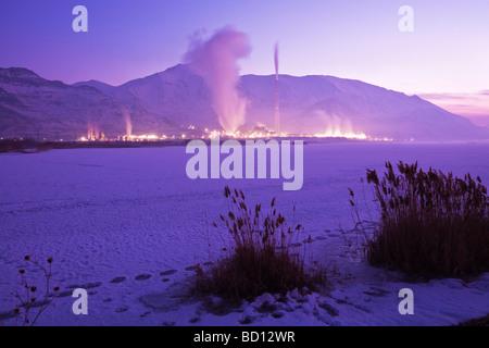 Kennecott Utah Copper Plant outside Salt Lake City - Stock Photo