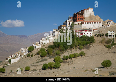 Thiksey Gompa / monastery in Ladakh region of Jammu & Kashmir. India - Stock Photo