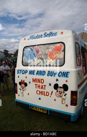 Ice cream van London England UK - Stock Photo