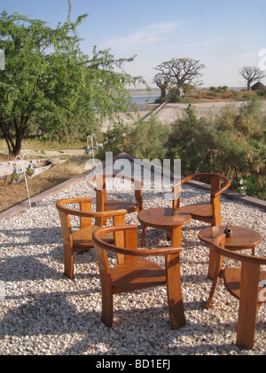 SENEGAL - view towards the delta from Lodge des Collines de Niassam on the south west coast - Stock Photo