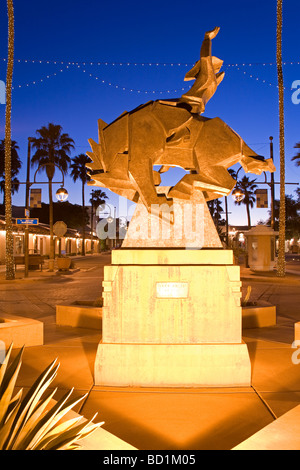 Jack Knife Sculpture by Ed Mell Main Street Arts District Scottsdale Phoenix Arizona USA - Stock Photo