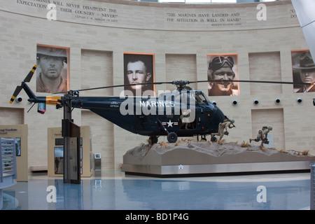 Aircraft exhibit at the US Marine Corps Museum, Quantico, Virginia, USA - Stock Photo