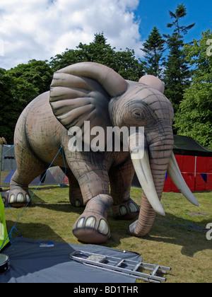 An inflatable elephant at the Latitude cultural festival. Henham Park, Southwold, Suffolk, England. - Stock Photo
