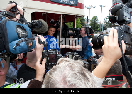 Tom Daley Civic reception and Parade. Plymouth Devon. Southwest. Fina world champion diver. Olympic Diver in media - Stock Photo