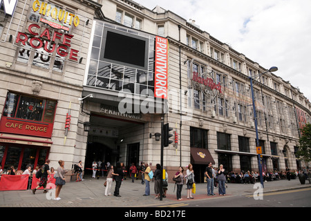 exterior of the printworks an entertainment complex on withy grove manchester uk - Stock Photo