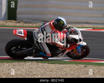 Session of official SBK testing at the Circuit Enzo e Dino Ferrari Imola - July 2009. - Stock Photo