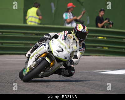 Session of official SBK testing at the Circuit Enzo e Dino Ferrari Imola - July 2009.CARLOS CHECA - Stock Photo