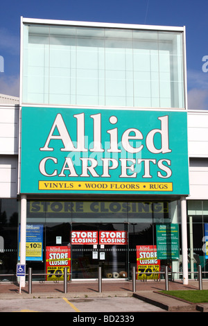 An Allied Carpets store on a retail park in a U.K. city. - Stock Photo