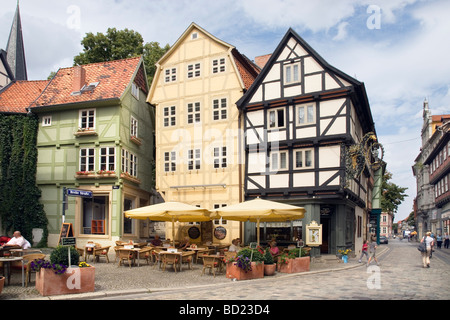 Breite Strasse / Hoken, Quedlinburg, Saxony-Anhalt, Germany - Stock Photo