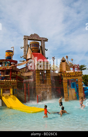 Water Park And Swimming Pools At A Luxury Resort Muscat