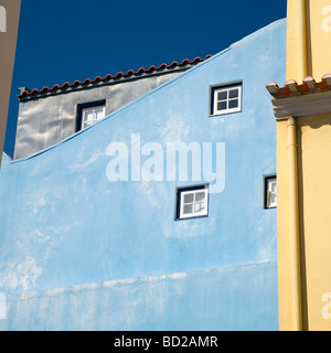 Colorful Portuguese houses - Stock Photo