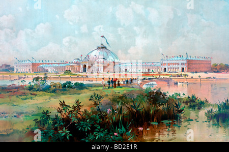 Horticultural hall, World's Columbian Exposition in 1892/1893 - Stock Photo