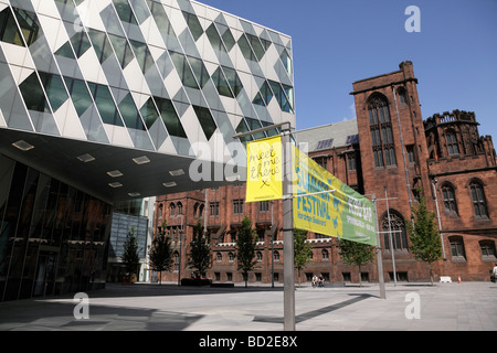 modern architecture of the spinningfields mixed use commercial and residential development on deansgate manchester - Stock Photo