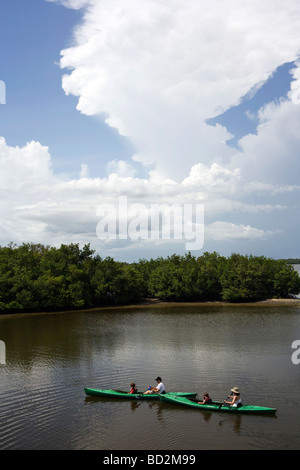 Kayakers at J. N. Ding Darling National Wildlife Refuge - Sanibel Island, Florida - Stock Photo