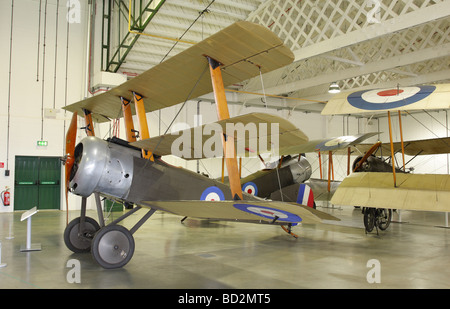 Sopwith Triplane currently in the Grahame-White Hangar at RAF Hendon,London. - Stock Photo