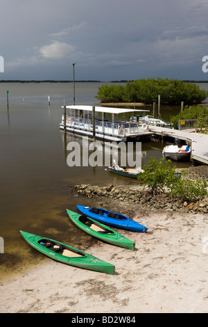 Kayaks at J. N. Ding Darling National Wildlife Refuge - Sanibel Island, Florida - Stock Photo