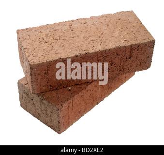 Red Bricks Brick block - Stock Photo