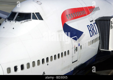 Detail of a British Airways Boeing 747 Jumbo - Stock Photo