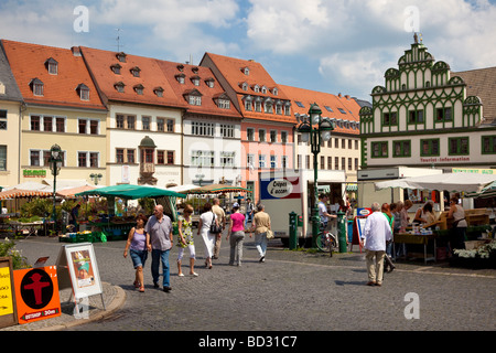 Weimar, Germany - The Market Place - Stock Photo