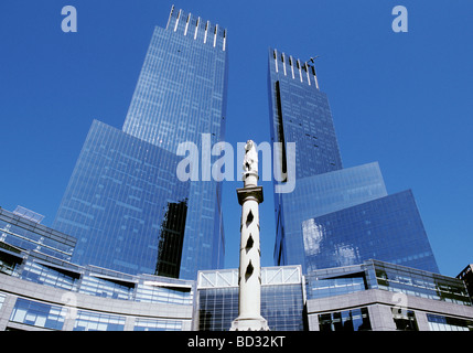 New York City Time Warner Center Central Park West USA - Stock Photo