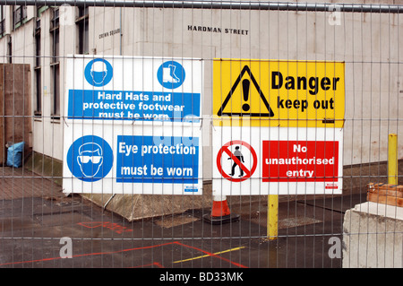 Construction site building HGV Health and safety information - Stock Photo