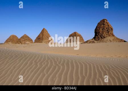 nubia sudan necropolis of Nuri - Stock Photo
