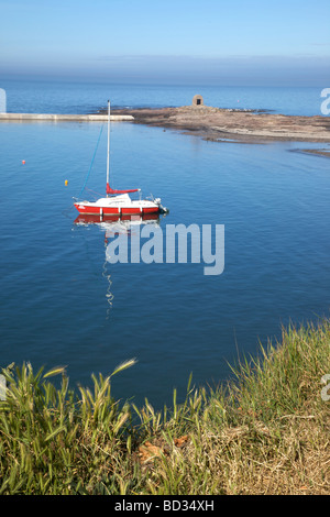 Sailing boat at Seahouses,Northumberland,Northeast England,UK - Stock Photo