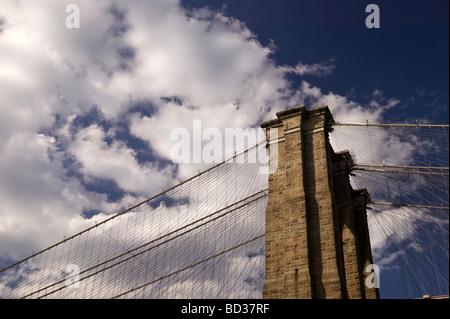 NYC, New York City, Brooklyn Bridge, Brooklyn - Stock Photo