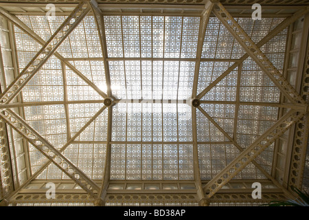 The Rookery Building Frank Lloyd Wright remodeled interior Chicago Illinois - Stock Photo