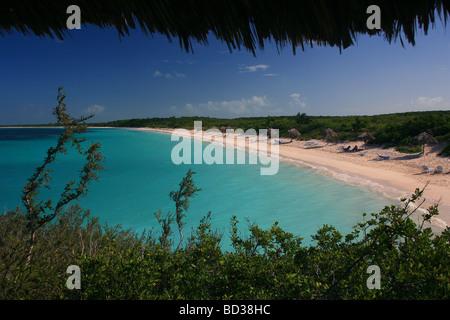 Cuba Cayo Santa Maria Turquoise sea at Playa Periquillo seen from Villa Las Brujas Photo CUBA1587 Copyright Christopher - Stock Photo