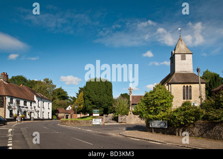 The Parish Church of Saint Bartholomew in the english village of Rogate near Petersfield in Hampshire - Stock Photo