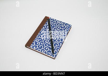 Diary on white Background - Stock Photo