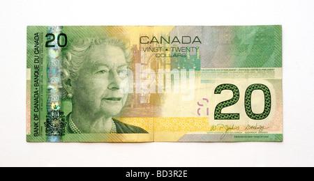 Canada Twenty 20 Dollar Banknote. - Stock Photo