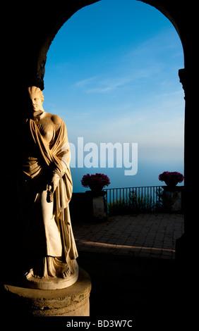 Terrace of Infinity, Villa Cimbrone, Ravello, Amalfi Coast, Italy - Stock Photo