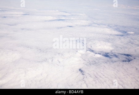 Aerial view of cloud formation taken from high altitude - Stock Photo