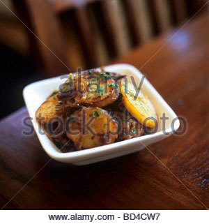 Pommes Lyonnaise Fried Potatoes With Onions Stock Photo
