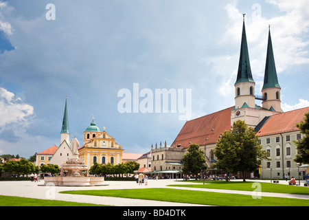 Altotting, Bavaria, Germany, Europe - Collegiate Parish Church and Chapel of the Miraculous Image - Stock Photo