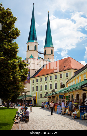 The Bavarian town and religious centre of Altotting, Germany, Europe - Stock Photo