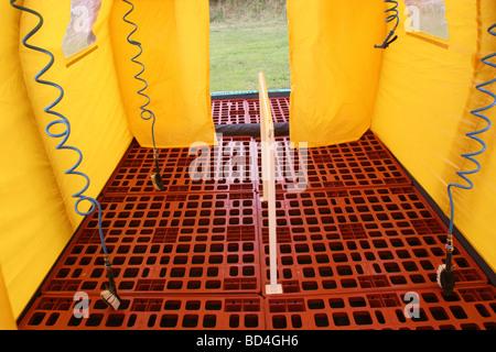 interior of a fire service mobile decontamination unit - Stock Photo