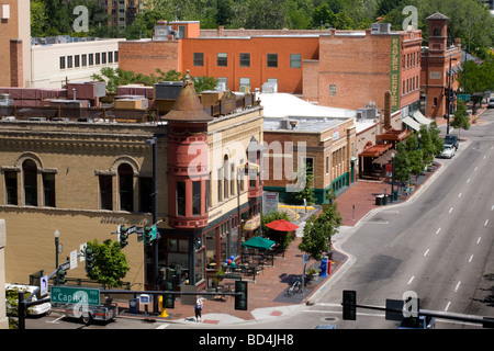 Business district downtown Boise Idaho - Stock Photo