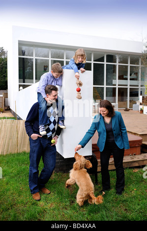 THE BLUE HOUSE IN SNEYD PARK BRISTOL AS FEATURED IN CHANNEL FOUR S GRAND DESIGNS UK - Stock Photo