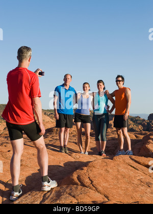 Runners at Red Rock taking a break - Stock Photo